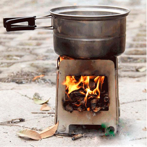 hornillo calentador camping biomasa plegable broksol localº