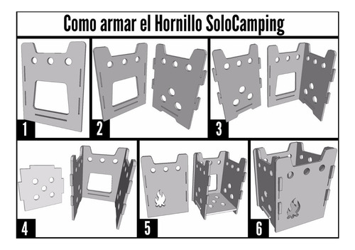 hornillo solocamping aconcagua, cocina de camping desarmable