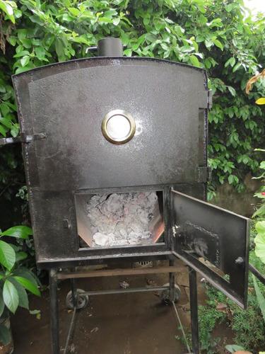 horno a leña calor envolvente bandeja enlozada 75 cm x 60cm
