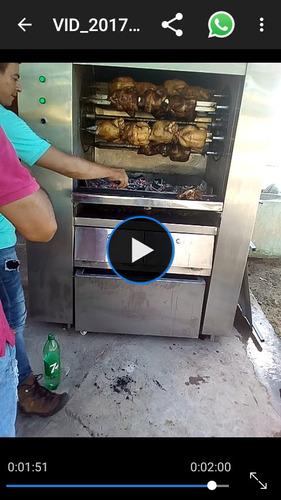 horno asador de 24 pollos al carbon