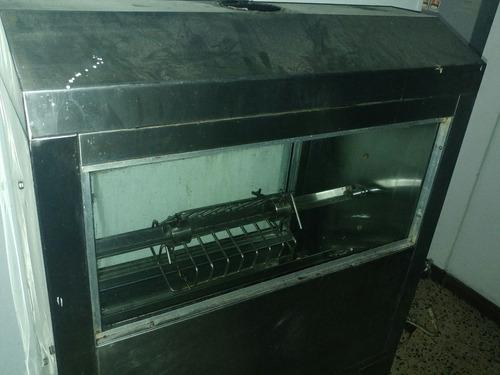 horno asador de pollos en acero inoxidable a gas