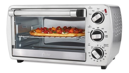 horno de conveccion tostador 18 litros oster electrico 120v acero inoxidable 18 litros cabe pizza de 30 cm.