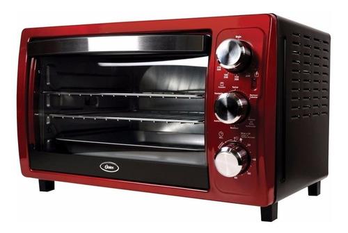 horno de conveccion tostador rostizador grande oster rojo