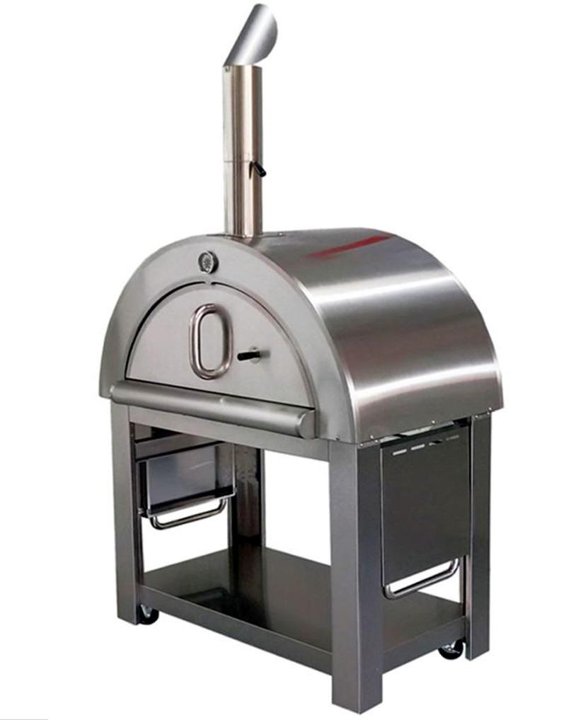Horno de le a para pizza artesanal acero exterior y - Hornos de lena metalicos ...