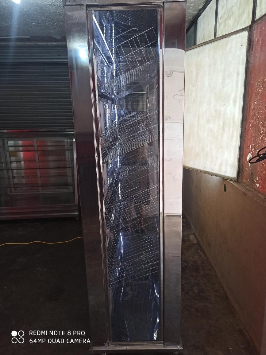 horno de panadería de 12 bandejas  y vitrinas  exividores