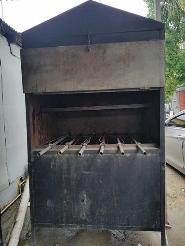 horno de pollo al carbon giratorio