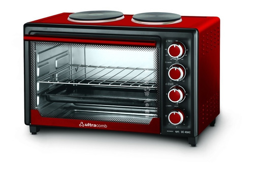 horno eléctrico 2 anafes ultracomb 40lts uc 40ac