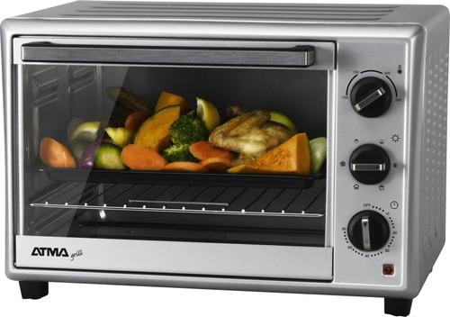 horno electrico atma gril 30l 1500w 6 niveles de coccion