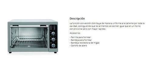 horno electrico bgh 42m13 1800w conveccion plateado mecanico