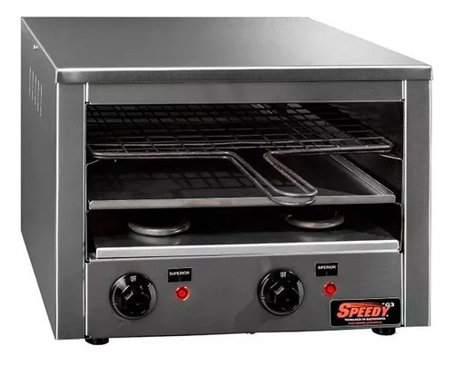 horno electrico carlitero tostador multifuncion speedy pizza