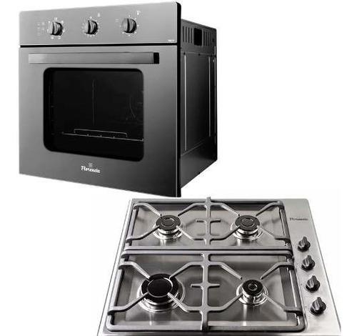 horno eléctrico empotrar + anafe a gas acero inox + envio