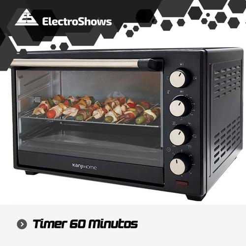 horno eléctrico kanji home 40003rc 40lts 1600w grill spiedo