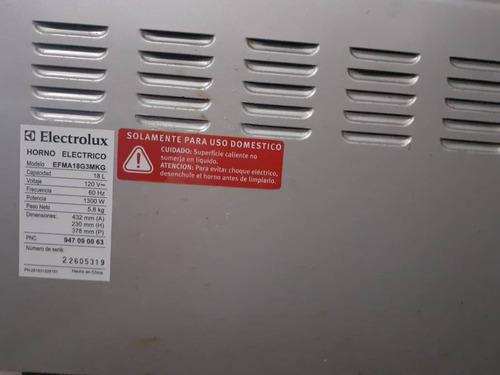 horno eléctrico marca electrolux