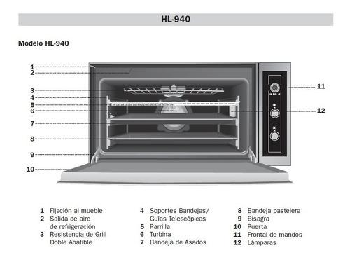 horno eléctrico multifunción turbo teka advand hl 940 inox