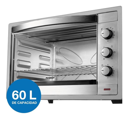 horno electrico peabody pe-he6065 gris 60lts 2200w acero