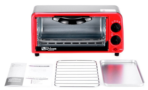 horno eléctrico personal 7 lts, 650w, timer bandejas
