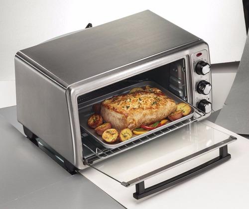 horno eléctrico tostador 6 panes hamilton beach 31411