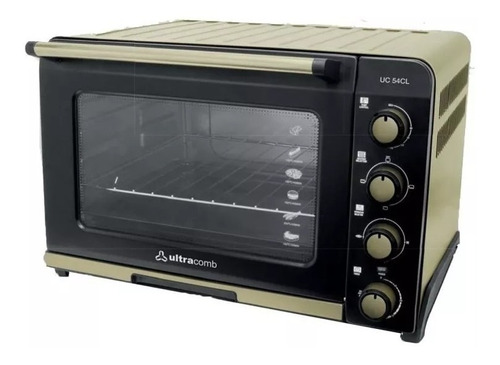 horno eléctrico ultracomb uc 54cl 54 litros champagne