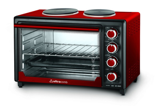 horno electrico ultracomb uc40ac 40lts, 3200w 2 anafes