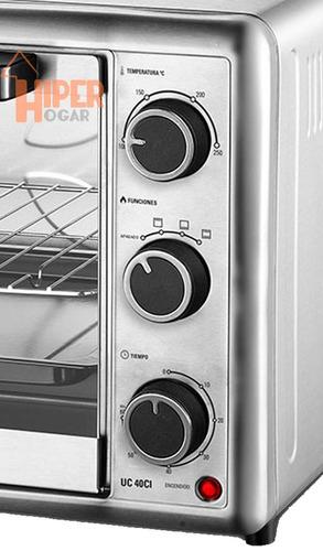 horno eléctrico ultracomb uc40ci 40 lts 1600w acero inox