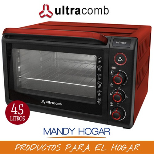 horno electrico ultracomb uc45cs1600w 45 lts conveccion time