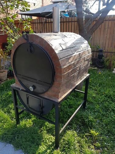 horno leña tambor 200 litros enchapado