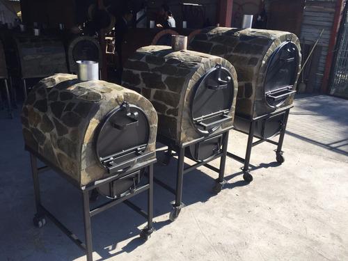 horno mediano a leña de piedra laja 120 litros