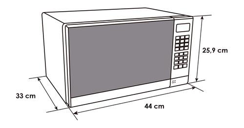 horno microondas 20 litros (0.7 pies³), abba vidrio reflec