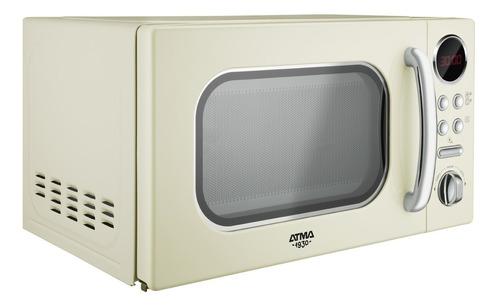 horno microondas 20 litros atma md1820vn beige vintage