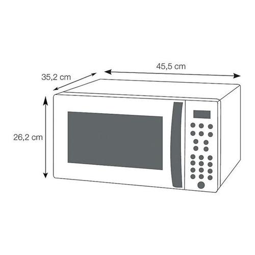 horno microondas 20 lt gris whirlpool + envio