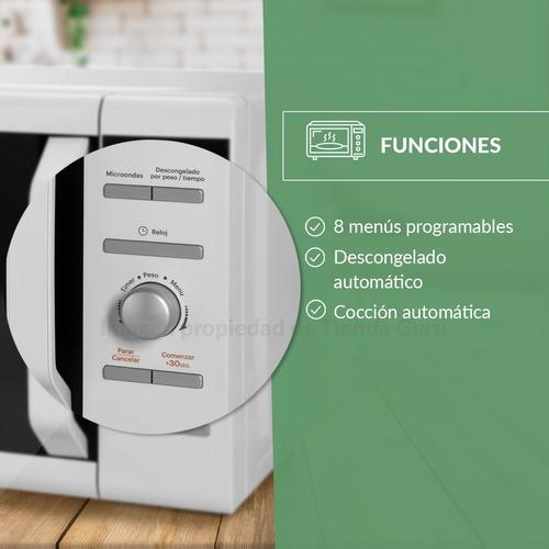 horno microondas atma 20lts blanco 700w digital md1720n