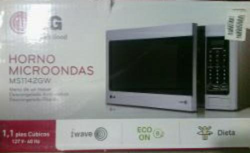 horno microondas lg color blanco 30 litros 1.1 cuf