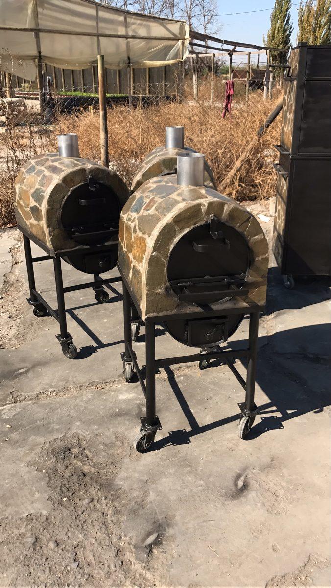 Horno peque o 60 litros a le a revestimiento laja ladrillo for Hornos piroliticos pequenos