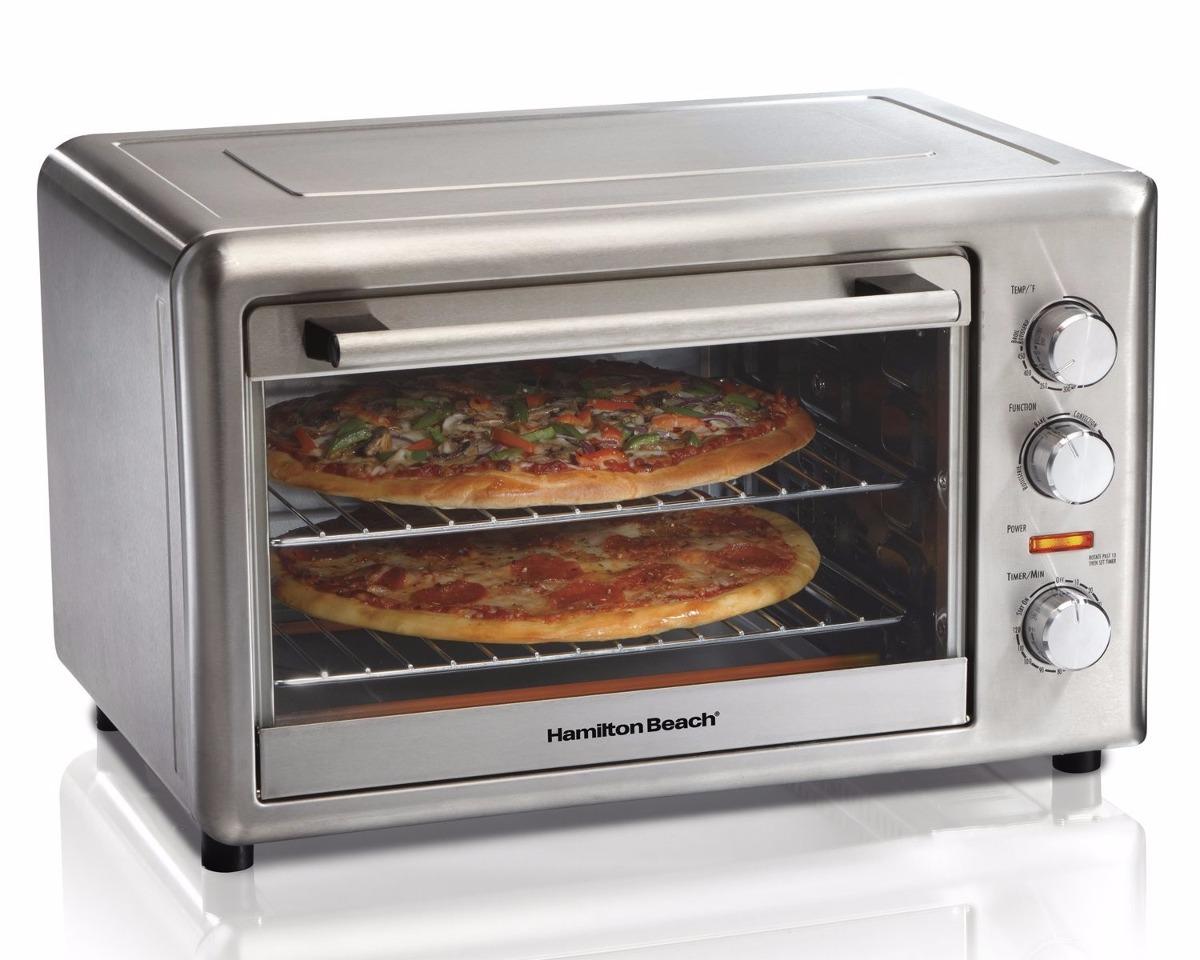 Horno pizza hamilton beach cocinar pastel asador electrico for Medidas de hornos electricos