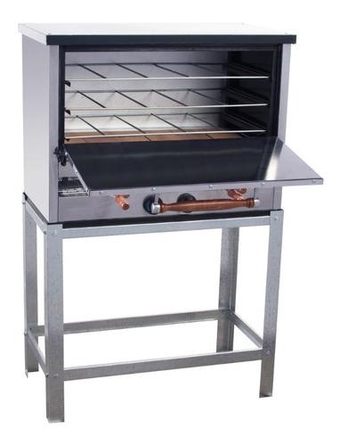 horno pizzero 6 moldes con carlitera acero inoxidable