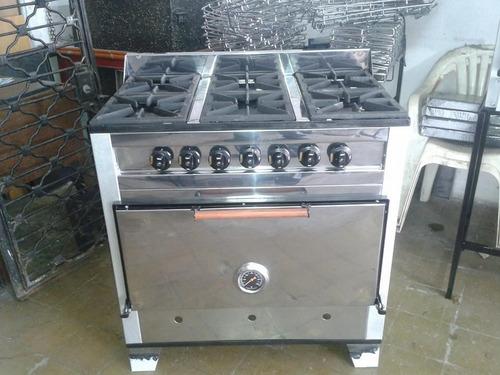 horno pizzero de 6 moldes acero inoxidable.