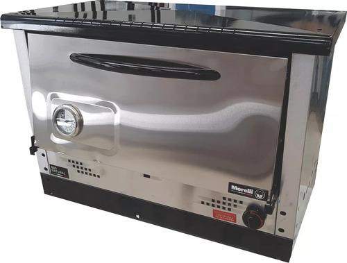 horno pizzero morelli saho 6 moldes acero inox con base