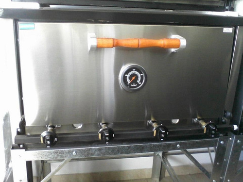 horno pizzero pastelero tecno 6 moldes acero inox. premium
