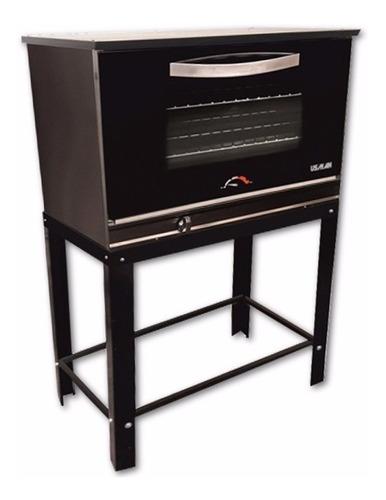 horno pizzero usman de 8 moldes acero black