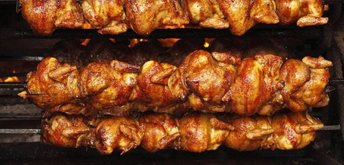 horno rosticero de 27 pollos de acero inox con base 12 msi