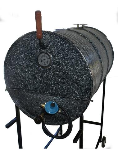 horno tambor a gas doble bandeja