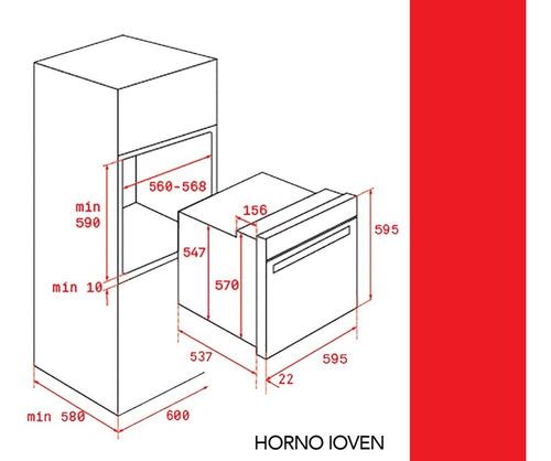 horno teka ioven inox hydroclean turbo multifuncion 60 cm