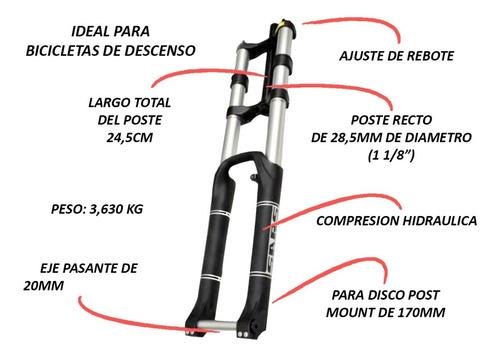 horquilla con suspension doble cristo - rodado 26
