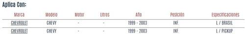 horquilla inferior chevrolet chevy 1999  - 2003 vzl