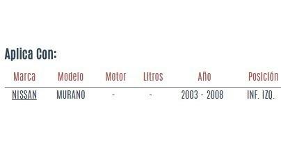 horquilla inferior izquierda nissan murano 2003 - 2008 vzl