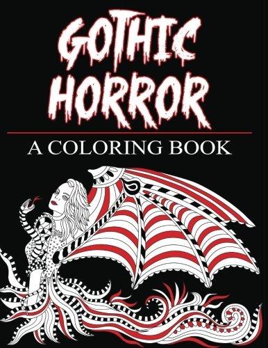 Horror Gótico Un Libro Para Colorear Fantasía Encantada Y