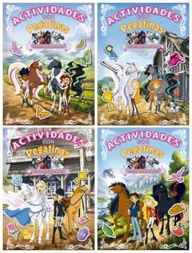 horseland actividades con pegatinas (4 t¿tulos)(libro infant