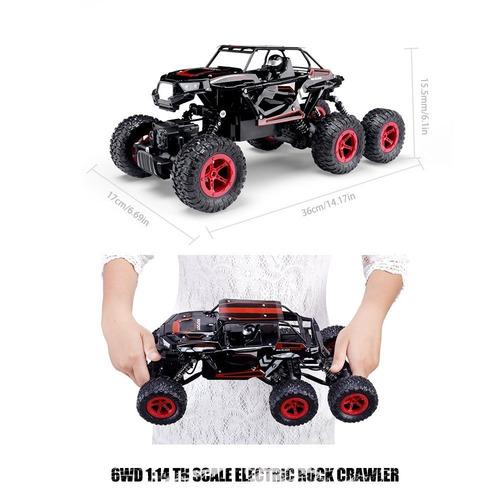 hosim 6wd rc rock crawler, 1:14 scale 2.4ghz + envio gratis