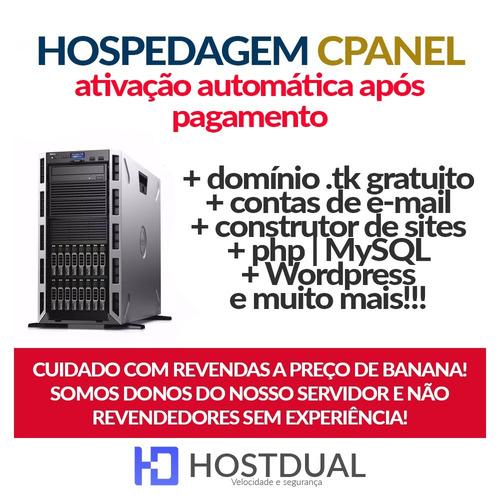 hospedagem de sites 15gb mensal cpanel  dominio gratis email