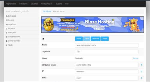 hospedagem minecraft 1gb ram - blazehosting